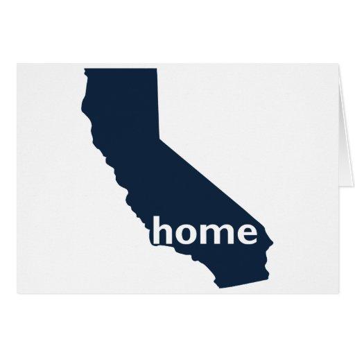 Hogar de California Tarjeta De Felicitación