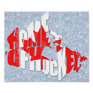 Hogar de Canadá del mapa del hockey Fotografías