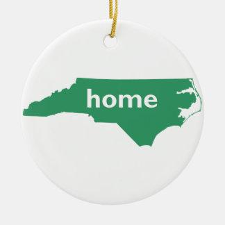 Hogar de Carolina del Norte Ornamento De Navidad