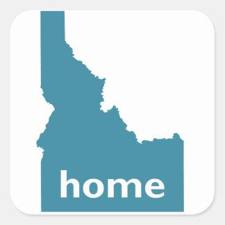 Hogar de Idaho Pegatina Cuadradas Personalizadas