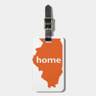 Hogar de Illinois Etiquetas Para Maletas