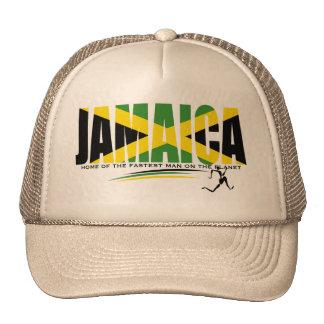 Hogar de Jamaica del hombre más rápido en el gorra