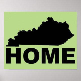 Hogar de Kentucky lejos de la muestra del poster Póster