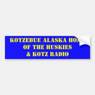 HOGAR DE KOTZEBUE ALASKA DE LA RADIO DE HUSKIES& K PEGATINA PARA AUTO