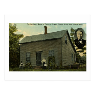 Hogar de la adolescencia de Thomas Edison - postal