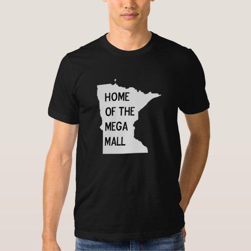 Hogar de la camiseta mega de la silueta del mangan playeras