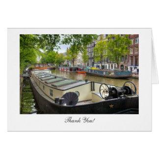 Hogar de la gabarra del canal de Amsterdam - Tarjeta De Felicitación
