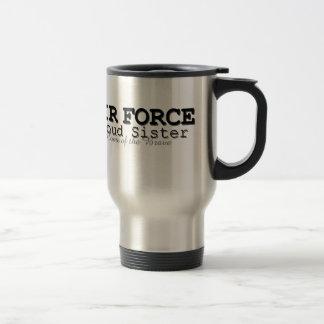 Hogar de la hermana de la fuerza aérea de valiente taza térmica