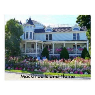Hogar de la isla de Mackinac Tarjeta Postal