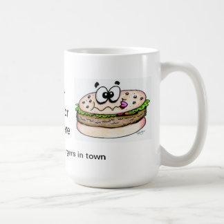 Hogar de la mejor taza de café de la hamburguesa