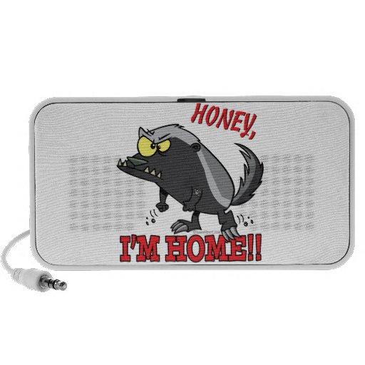 hogar de la miel im del tejón de miel laptop altavoces