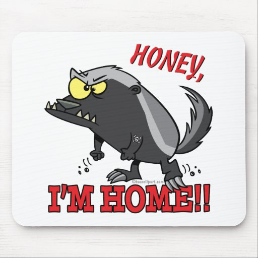 hogar de la miel im del tejón de miel alfombrillas de ratón