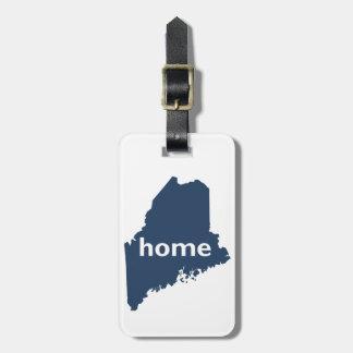 Hogar de Maine Etiqueta Para Maleta