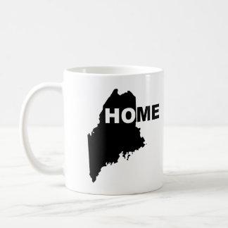 Hogar de Maine lejos de la taza del estado o de la