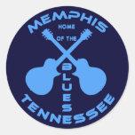 Hogar de Memphis, Tennessee de los azules Etiqueta