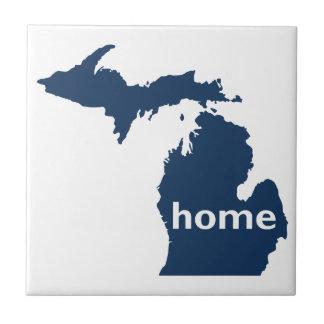 Hogar de Michigan Azulejo Cuadrado Pequeño