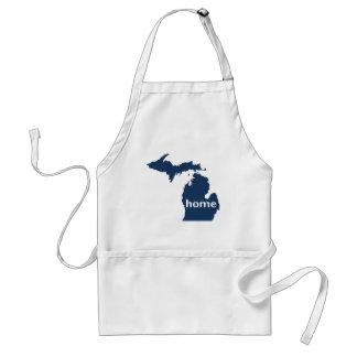 Hogar de Michigan Delantal