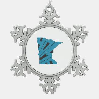 Hogar de Minnesota Adorno De Peltre En Forma De Copo De Nieve
