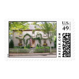 Hogar de Nantucket - casa de Christopher Starbuck Sello Postal