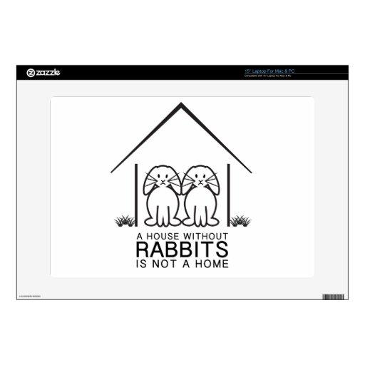 Hogar de orejas ca3idas del conejo skins para 38,1cm portátil