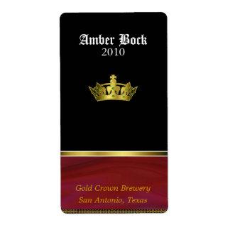 Hogar de oro de la corona hecho etiquetas de la ce etiquetas de envío