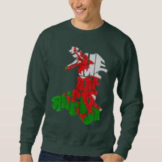 Hogar de País de Gales de la camiseta del mapa del Sudadera