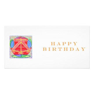 HOGAR de Reiki del feliz cumpleaños Tarjetas Fotográficas