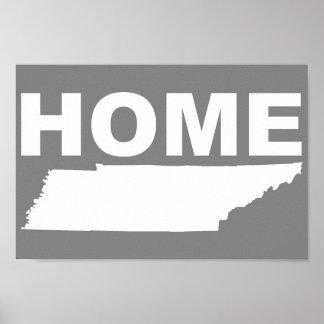 Hogar de Tennessee lejos de la muestra del poster