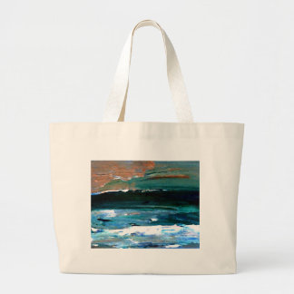 Hogar del arte del mar de las olas oceánicas del m bolsa de mano