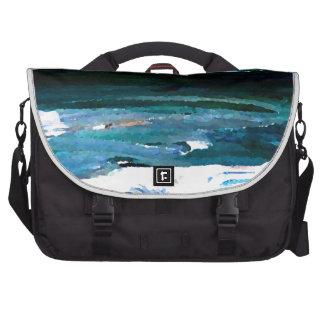 Hogar del arte del mar de las olas oceánicas del m bolsas para ordenador