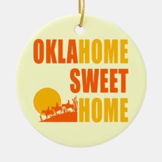 Hogar del dulce de Oklahome Adornos De Navidad