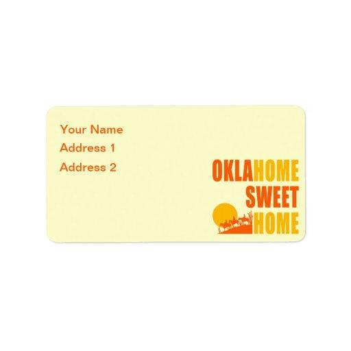 Hogar del dulce de Oklahome Etiquetas De Dirección