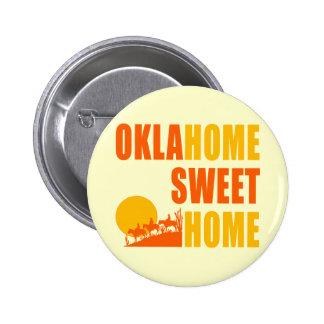 Hogar del dulce de Oklahome Pin Redondo De 2 Pulgadas