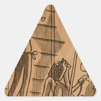hogar del hillbilly pegatina triangular
