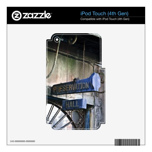 Hogar del jazz calcomanía para iPod touch 4G