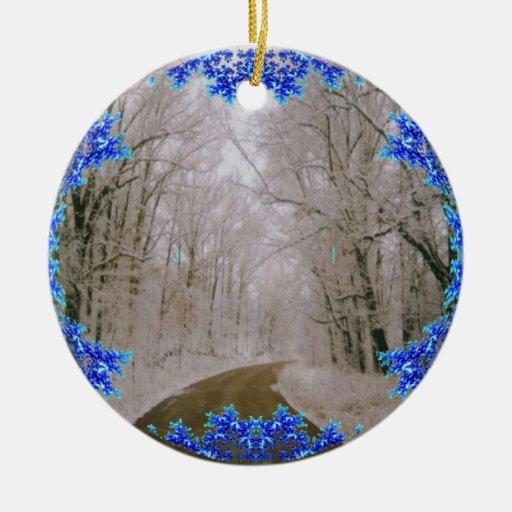 Hogar del largo camino para el ornamento del navid adornos