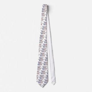 Hogar del libre debido al valiente corbata personalizada