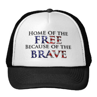 Hogar del libre debido al valiente gorra