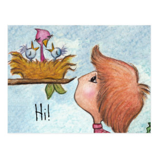 Hogar del pío del Regalo-Hogar del Birdhouse del m Tarjetas Postales