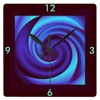 Hogar del reloj 4 de la onda en marrón, azul,