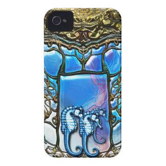 Hogar del Seahorse - caja de Blackberry de la Case-Mate iPhone 4 Protectores