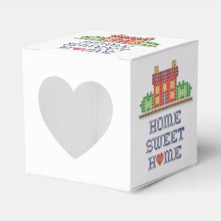 Hogar dulce casero con el corazón cajas para detalles de boda