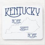 Hogar dulce casero de Kentucky por la tinta del pe Alfombrillas De Ratón