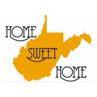 Hogar dulce casero de Virginia Occidental por la t Tarjeta Postal