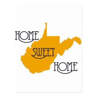 Hogar dulce casero de Virginia Occidental por la t Postales