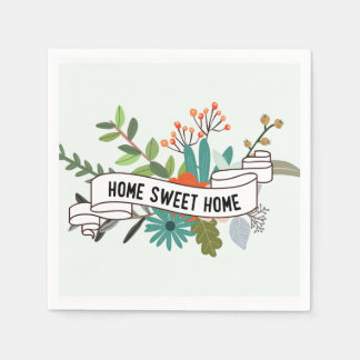 Hogar dulce casero el | floral servilletas desechables