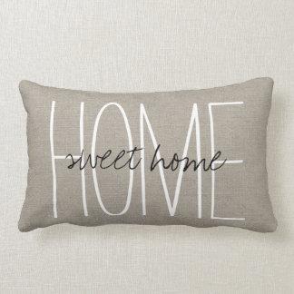 Hogar dulce casero elegante rústico almohadas