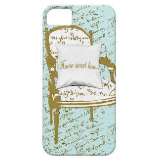Hogar dulce casero, escritura francesa iPhone 5 cárcasas