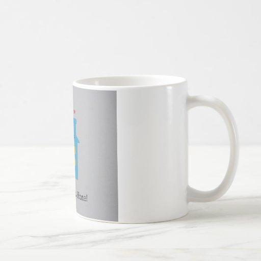 Hogar dulce casero, establecido 2013 taza básica blanca