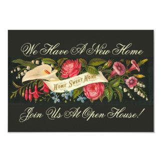 Hogar dulce casero floral del vintage - invitación